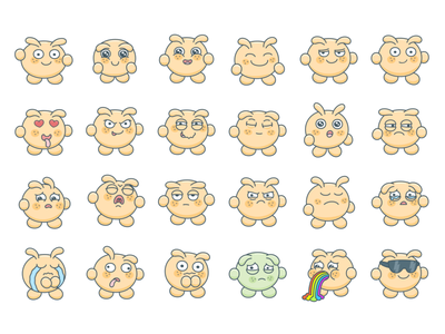 Animated Stickers with Emotions animations animated animation 2d animation sticker design stickers sticker design icons character design character vector illustration