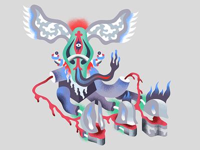 Kazar brush vector affinitydesigner characterdesign affinity pain godlien god alien illustration