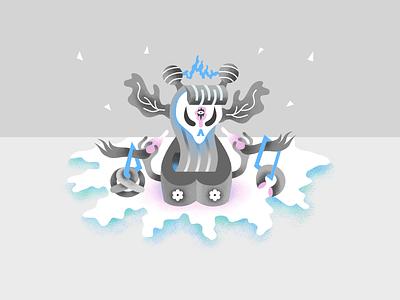 Freeza affinity vector illustration canvas god alien