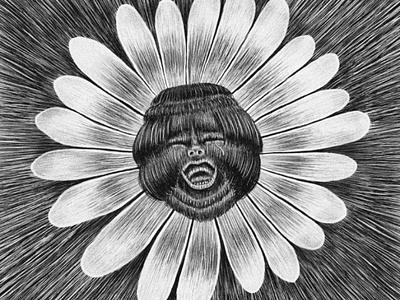 CD cover illustration for slovak band flower emotions illustration cover