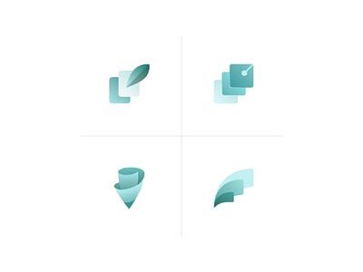 App icon explorations document signing logo turquoise concept icon app ui
