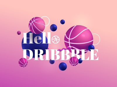 Hello Dribbble ui download design modern hello world hello dribbble