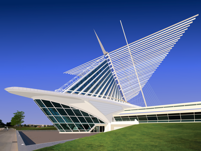 Milwaukee Art Museum | Architecture Rendering
