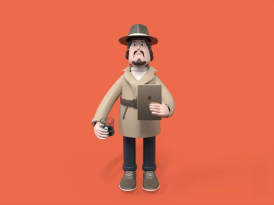 Business Man💼💸 motion dedective graphicdesign character economy money hat c4d color animation business man gentleman 3d animation 3d character render cinema4d 3d illustration