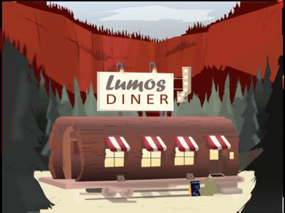 Restaurant in the woods