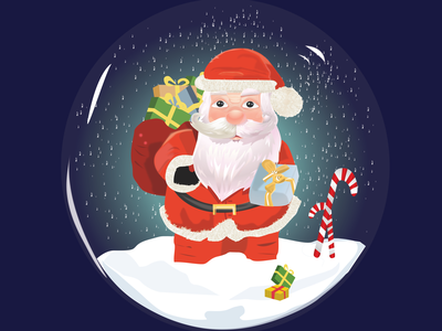 MERRY CHRİSTMAS holiday winter year happy merrychristmas gift digital character design red snowball snow santa noel christmas vector flat dribbble design illustration color