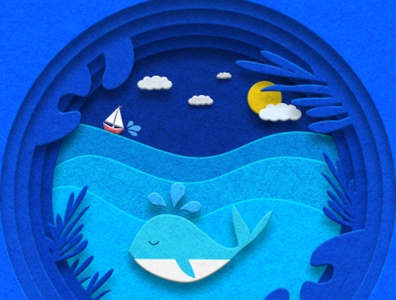 papercut illustration illustration ui design