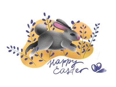 Easter bunny illustration bunny procreate