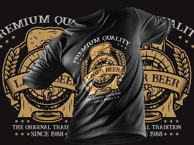 Premium Quality Beer T-Shirt Design tshirtdesign editable t-shirt design template custom font t-shirt typography t-shirt design beer label beer art beer branding beer t shirts beer
