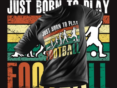 Football Player T-Shirt Design player born to play football playing football football player sports football halloween movie t-shirts tshirtdesign design a t-shirt lab editable t-shirt design template amazon t-shirts design custom font t-shirt t-shirt design typography