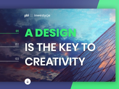 PBI on Behance! minimalism minimal user experience ux ui design website web design