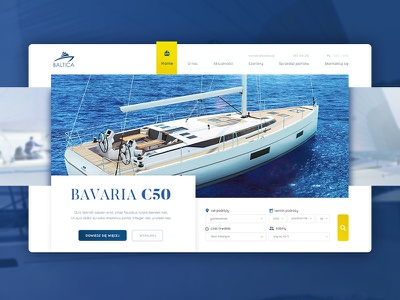 Baltica Yachts internet graphic design ui ux app css website webdesign web
