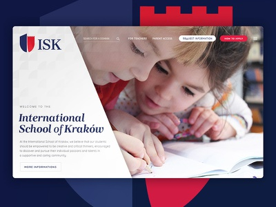 International School of Kraków app website logo ui ux web design