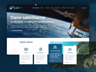 Satim graphic  design web ui development satellite uid ux
