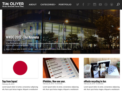 My Blog Redesign for 2013