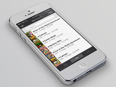 iComics - iOS 7 Redesign