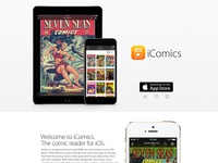 iComics Website - v1.1 Redesign