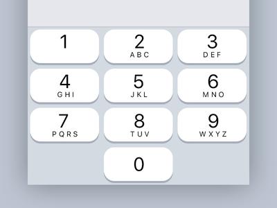 iOS 11 Number Keypad