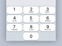 iOS 11 Number Keypad