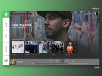 009 - Music Player - Spotify Redesign