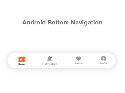 Bottom Navigation Menu