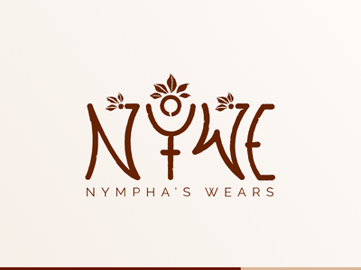 Nympha's Wears | Logo for a Tribal Artisan branding wilderness mystic personal brand organic native tribal natural logotype wears nympha craftsmanship logodesign logo