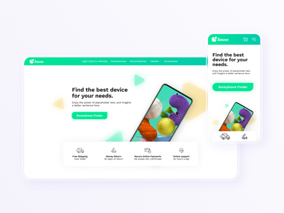 Limeee | Webshop design for an Electronic Store ui smartphone electronics store web design mobile mobile design electronic webshop store trendy young responsive web design