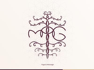 MAG | Logo design for a Masseur & Yoga Trainer consciousness evolving sacred geometry esoteric chakras organic spiritual massage yoga design flat personal brand branding logo variations logo logodesign