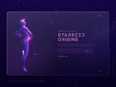 DNA Activation - 3D Modelling & Interface Concept // pt. 2. starseed 3d art 3d illustration ui design web website minimal glassmorphism interface ascension clean concept landing page webdesign spiritual spirit futuristic ui spirit technology