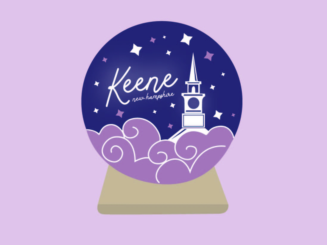 Keene Crystal Ball Sticker keenestate college art advert retail promotional promo graphicdesign cute girly adobe illustrator illustration art hippie tourist newhampshire keene crystal crystalball sticker design sticker