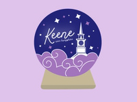 Keene Crystal Ball Sticker