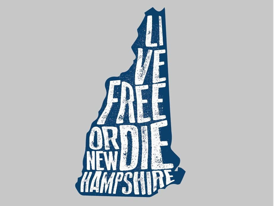 Live Free Or Die Graphic rustic tourist promotional mesh graphicdesign screenprinting distressed adobe illustrator tshirtart tshirtdesign monadnock livefreeordie livefree newengland newhampshire