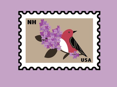 New Hampshire State Bird And Flower