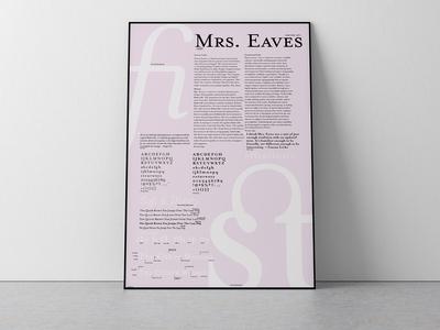 Mrs. Eaves Type Specimen Poster