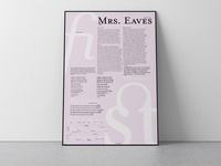 Mrs. Eaves Type Specimen Poster