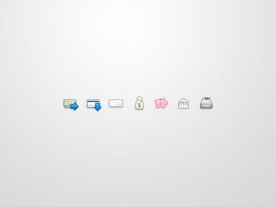 WePay Icons wepay icons bank money piggy bank cash register