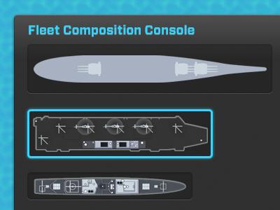 Fleet Console ipad game menu sprites