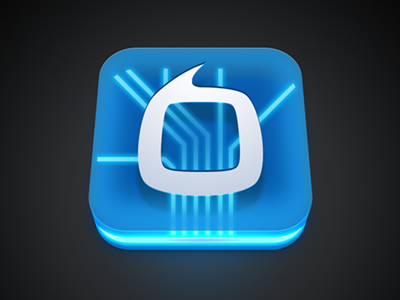 TVersity Icon tversity icon illustration circuits neon