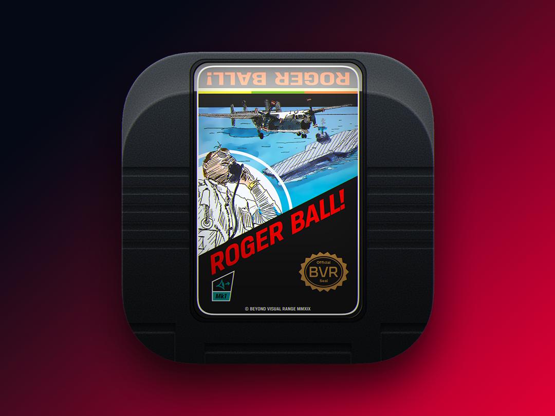 Roger Ball Game Icon retro game nintendo cartridge app icon icon