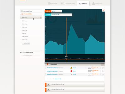 Dashboard mockup-2 menu chart expand sidebar interface clean flat minimal simple graph dashboard ui