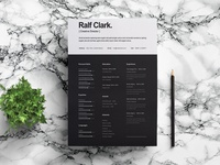 Free Attractive Black and White Resume Template