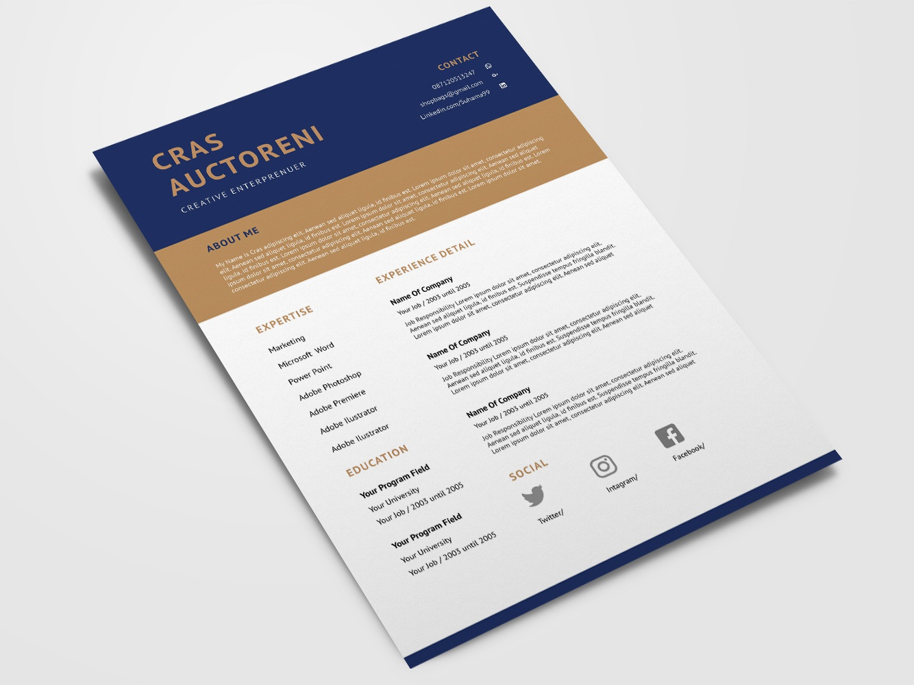 free cv  resume template by james han