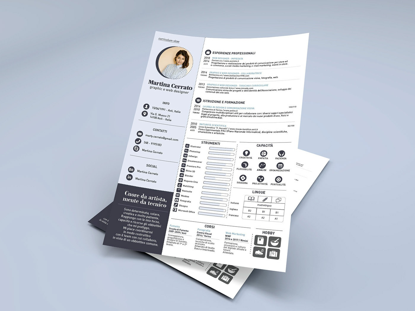 Free Infographic Resume Template Made With Adobe Indesign Re Design