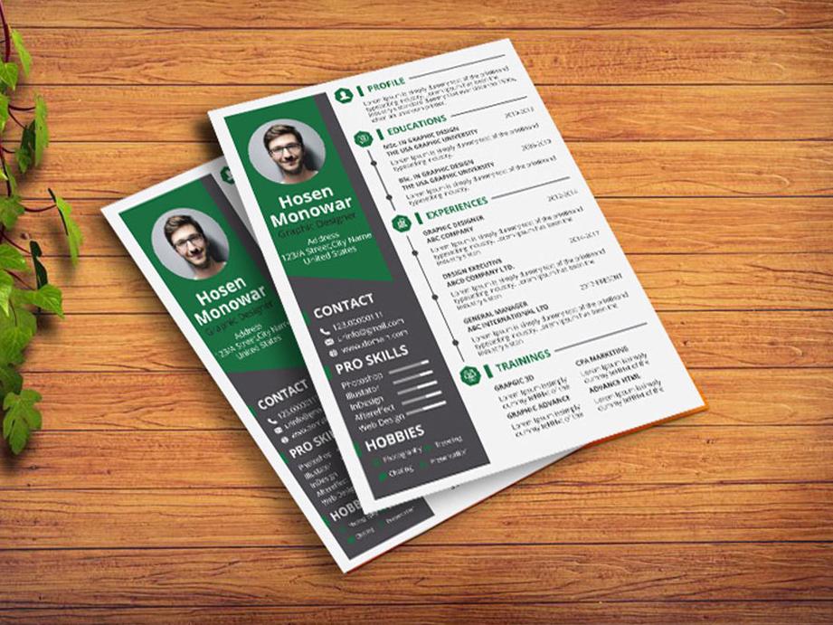 FREE Resume Design (AI and PSD) design free cv template free cv cv free resume resume free resume template free psd psd freebies freebie