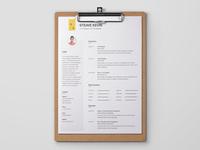 Free PSD Resume/CV Template