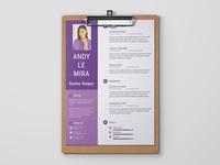 Free Purple Curriculum Vitae Template