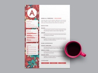 Free Pretty Floral Resume Template
