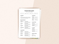 Free Simple Multiple Format Resume Template