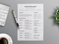 Simple Minimalist Curriculum Vitae Template (FREBIEES)