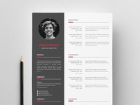 Free Modern Vector Resume Template